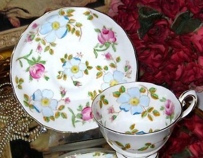 Tuscan England Floral Chintz Pink Roses Tea Cup And Saucer C8396 Hp Teacup
