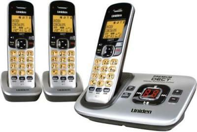 Uniden Premium Dect 3135+2 Digital Cordless Phone System Works In Black Out