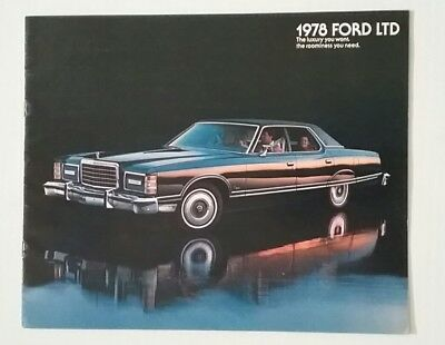 Vintage 1978 Ford LTD 12 Page Car Auto Sales Brochure Free Shipping