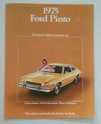 Vintage 1975 Ford Pinto 8 Page Car Auto Sales Brochure Free Shipping
