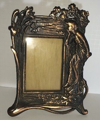 Vintage Art Nouveau Cast Iron Early 20thc.  Victorian Large Picture Frame