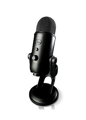Blue Yeti USB Microphone Blackout Edition with Multiple Pattern Selection