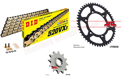 Suzuki DRZ400 SM DID Gold X-Ring Chain & JT Sprockets Kit Set
