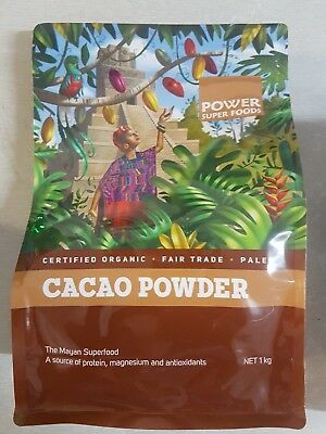 Power Super Foods Organic Cacao Powder 1kg Health Foods