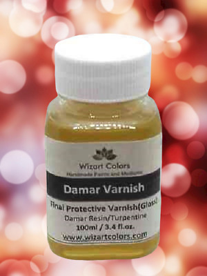 Damar Varnish for Oil Painting - Artists Quality by Wizart Colors