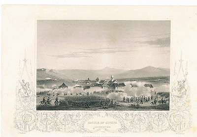 Engraving Battle Of Citate January 6Th 1854 London Printing And Publishing Co