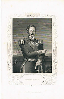 Engraving Admiral Hamelin London Publishing And Printing Co Engr D J Pound