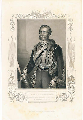 Engraving Earl Of Cardigan Commander Of Cavalry Charge At Balaklava Oct 25 1854