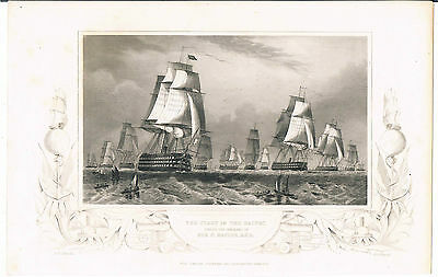 Engraving The Fleet In The Baltic Under Command Of Sir C Napier Kcb Eng Dj Pound
