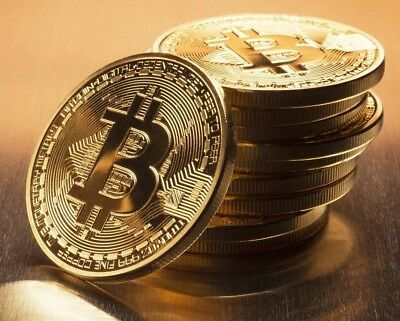 Gold Plated Bitcoin Coin Collectible Gift BTC Art Collection Physical new