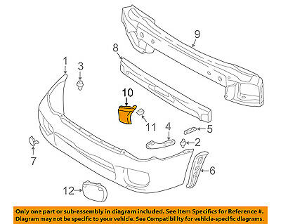 Primed OUTBACK 03-04 FRONT BUMPER COVER Exc Legacy Model