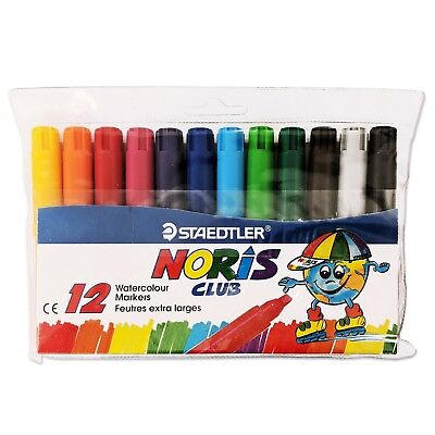 Staedtler Noris Club Washable Ink Fibre Tip Pen Assorted Colours Pack of 10