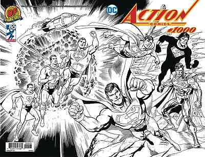 Action Comics 1000 Dan Jurgens Df Dynamic Forces B&w Sketch Variant Superman Nm