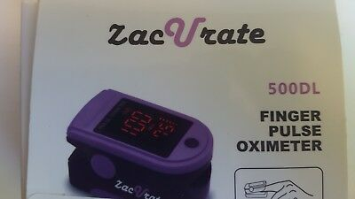 Zacurate Pro Series 500DL Fingertip Pulse Oximeter Blood Oxygen Saturation d2