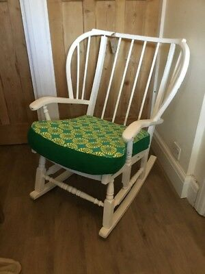 Large White Shabby Chic Rocking Chair