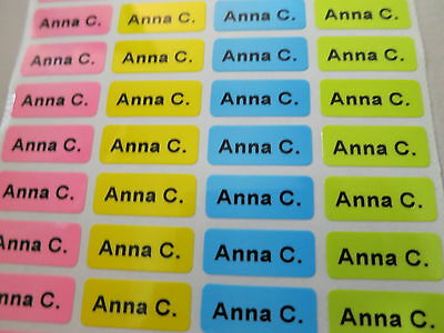 150 Colorful Tiny Personalized Waterproof Name Stickers Daycare School Labels