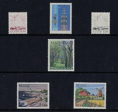 al21 Aland MNH stamps official year set 1985, fishing boats