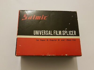SAIMIC Universal Film Splicer Super 8,Regular 8 and 16mm film NEW/Corta+empalma