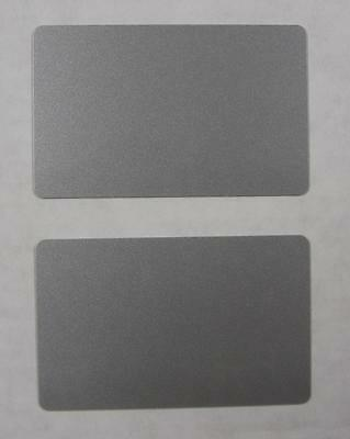 1000 Blank PVC Plastic Photo ID Silver Credit Card 30Mil CR80