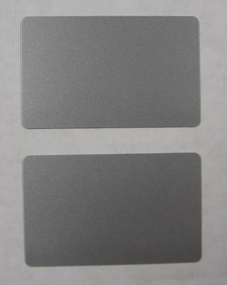 100 Blank PVC Plastic Photo ID Silver Credit Card 30Mil