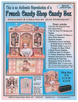 "Jean Nordquist's Repro French Candy Shop Candy Box Project 12""H, fits  8"" doll"