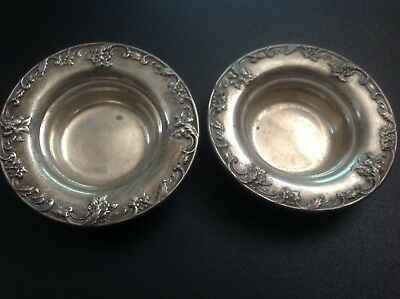 Antique S.Kirk & Son Set of 2 Sterling Silver  Candy Nut Dishes