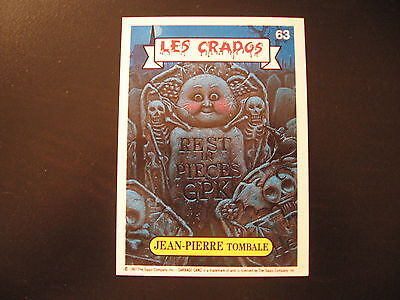 Garbage Pail Kids Crados 1#63 JEAN-PIERRE TOMBALE ASHLEY To Ashes/DUSTIN To DUST