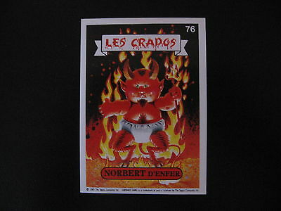 Garbage Pail Kids Les Crados S1#76 NORBEDRT D'ENFER Hot SCOTT/LUKE Warm OS2