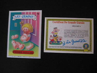 Garbage Pail Kids Les Crados S1#79 PIERRE DÉTACHÉ ART Apart/Busted BOB OS1