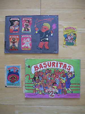 Garbage Pail Kids Basuritas Complete Albums 1 & 2 Argentina 1987 with wrappers