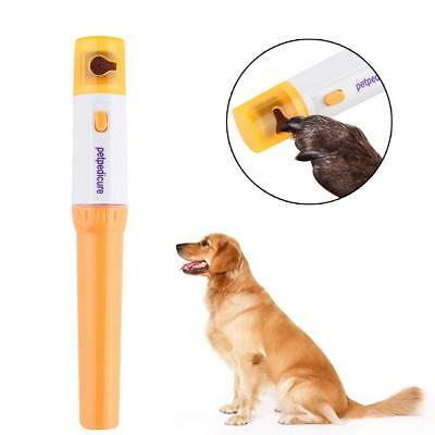 Dog Cat Pet Nail Electric Kit File Trimmer Clipper Grinder Grooming Pedicure New