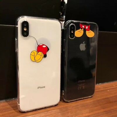 Cartoon Mickey Mouse Transparent Soft Case For iPhone XR XS MAX 8 Plus 7Plus 6S+
