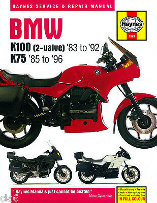 BMW K75 K100 2-valve Workshop Service and Repair Manual 1983-96 *NEW