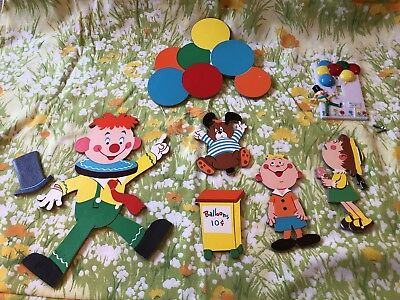 Vintage DOLLY TOY CO Clown Balloon Nursery Wall Decor Pinup & Switch Plate 1973