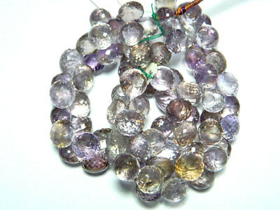 AAA Ametrine Onion Briolettes 10mm To 11mm Approx 42 Pieces 8 inches Full Strand