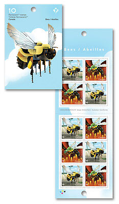 2018 Bees: Permanent Domestic Rate Stamps – Booklet of 10