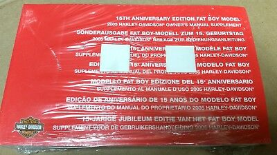 2005 15TH ANNIVERSARY EDITION Softail FATBOY Owner's Manual Supplement 99469-05S