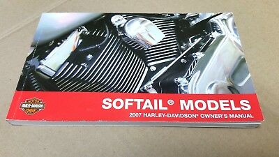 2007 Harley Davidson NEW Softail Models Owner's Manual 99469-07