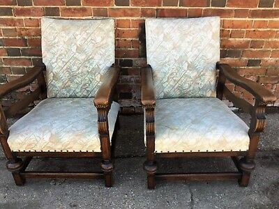A Pair Of Vintage Antique Art Deco Reclining Adjustable Steamer Chairs