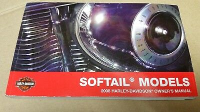 2008 Harley Davidson NEW Softail Models Owner's Manual 99469-08