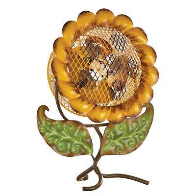 Decorative Sunflower Tabletop Fan, Yellow, by Collections Etc