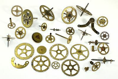 LOT of ANTIQUE CLOCK PARTS, MOSTLY WHEELS, GEARS, & COGS STEAMPUNK ARTWORK KC519