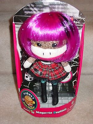 New Planet Sock Monkey You Only Live Once Purple Hair Earring Magenta Beetsch