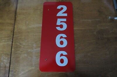 """reflective mailbox/house number """"customized"""" sign"""