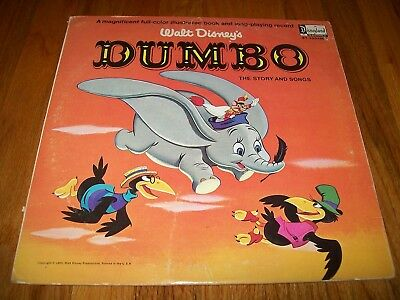 Walt Disneys' Dumbo: The Story And Songs Lp Very Good Condition Very Rare!