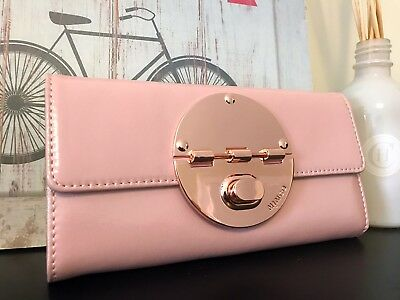 $SALE$ 50% Off BNWT MIMCO LARGE TURNLOCK WALLET  Blossom Pink Rose Gold Hardware