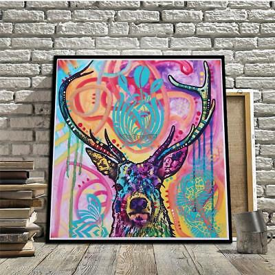 Deer Picture Wall Art Canvas Print Oil Painting Modern Home Decor C5