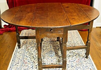 William & Mary Oak Gateleg Table -- c.1700 -- FREE Local Delivery