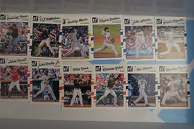 2017 Donruss MLB Baseball LOT of Cards 28 Kershaw Yoenis Ripken