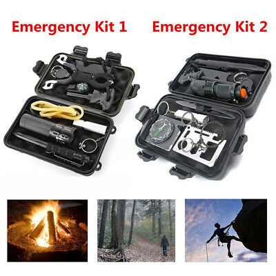Emergency Survival Equipment Kit Outdoor Tactical Hiking Camping Tool Set +